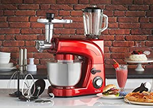VonShef 3-in-1 Electric Stand Mixer with Blender & Meat Grinder - 1200W - Includes FREE Hamlyn Recipe Book by VonShef