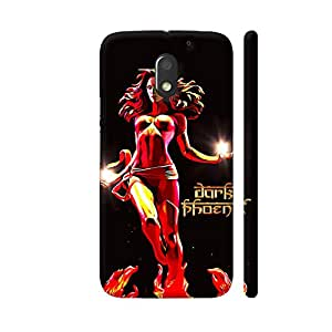 Colorpur Dark Phoenix On Black Designer Mobile Phone Case Back Cover For Motorola Moto E3 / Moto E3 Power | Artist: Divakar Vikramjeet Singh