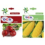 DCS Beetroot Seeds And Sweet Corn Seeds(pack Of 2 Per Pack 50 Seeds)