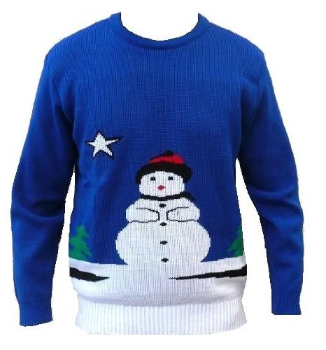 Christmas Novelty Retro Snowman Jumper