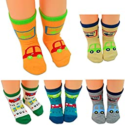 Lystaii 5 Pairs Anti-slip Soft Warm Cotton Baby Children Thick Socks for 1-3 Years Baby 12-15cm