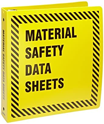 pulgadas amarillo MSDS Carpeta (1 cada uno): Industrial & Scientific