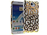 Niceeshop(TM) Gold Grapevines Electroplating Hollow Pattern Hard Case Cover for Samsung Galaxy Note II N7100 +Screen Protector
