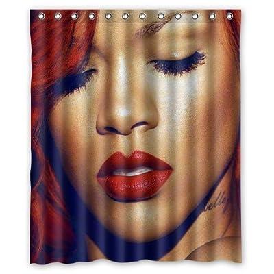 """Rihanna Custom Shower Curtain 60"""" x 72"""" Bathroom Decor"""