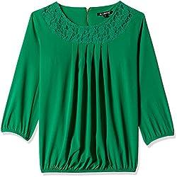 Harpa Women's Body Blouse Shirt (GR3158-GREEN_S)
