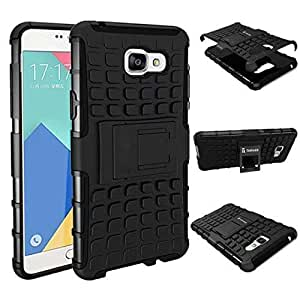 Carla Hard Dual Amor Hybrid Bumper back case with Flip Kick Stand for Samsung A710 by Carla Store.