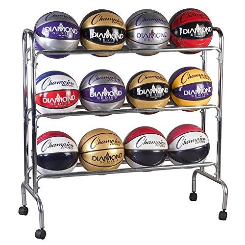 [해외]챔피언 스포츠 12 Ball 휴대용 카트/Champion Sports 12 Ball Portable Cart
