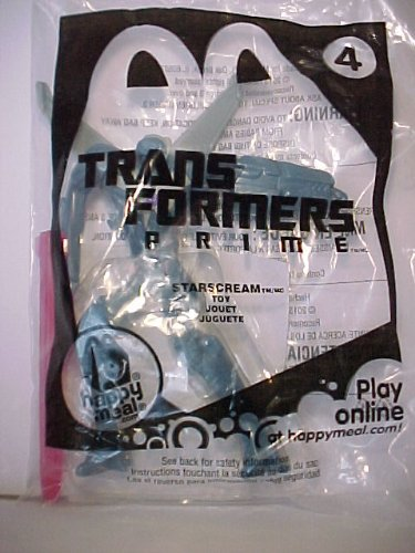 2013 McDonald's Transformers Prime #4 Starscream Happy Meal Toy - 1