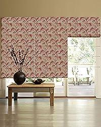 PRESTO BAZAAR 1 Piece Polyester Floral Blind - Red