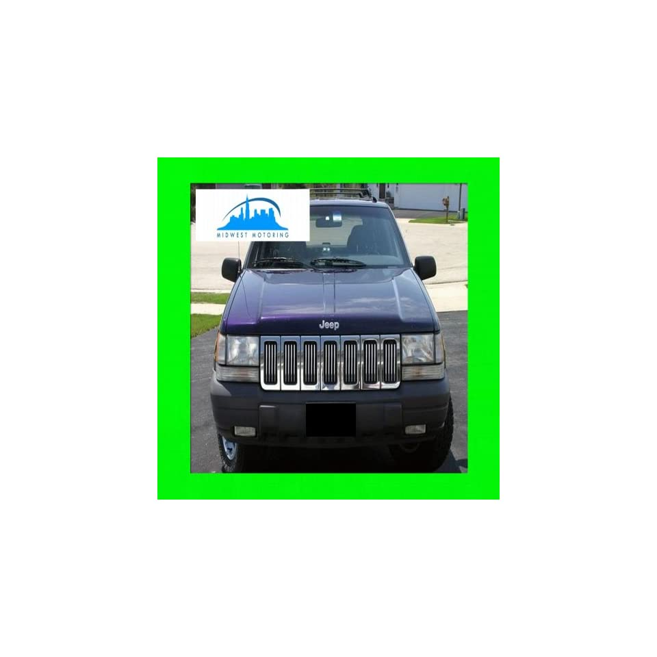 1993 1998 JEEP GRAND CHEROKEE CHROME TRIM FOR GRILL GRILLE 1994 1995 1996 1997 93 94 95 96 97 98