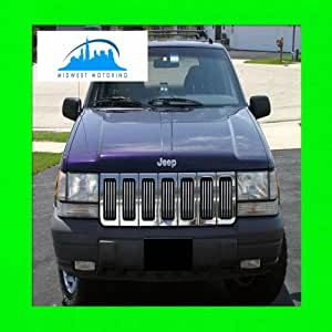 1993-1998 JEEP GRAND CHEROKEE CHROME TRIM FOR GRILL GRILLE 1994 1995 1996 1997 93 94 95 96 97 98