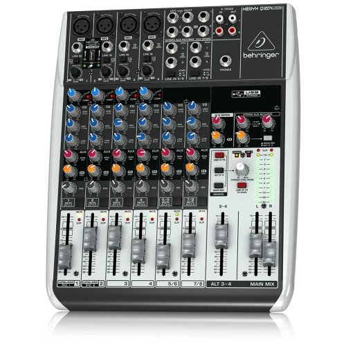 Behringer Q1204USB 12-Input 2/2-Bus USB Audio Interface Mixer with Mic Preamps, Compressors (Behringer Mixer Personal compare prices)