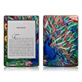 "Kindle 4 skin - Coral Peacock - High quality precision engineered removable adhesive skin for the Amazon Kindle (4th generation Wi-Fi 6"" E Ink Display e-book reader)by DecalGirl"