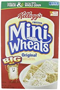 Kellogg's Frosted Mini Wheats Big Bite Cereal 18-ounce (Pack of 4)