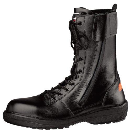 ミドリ安全 【消防仕様】 《踏抜防止板/耐滑・耐熱底》 男女兼用 長編上静電安全靴 [ラバーテック] RT731F消防静電P‐4