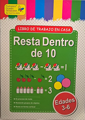 Subtraction within 10 / Resta dentro de 10. Aprende español / Learn Spanish - Libro de actividades para niños / Activities for kids