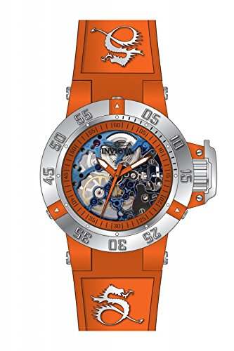Invicta Subaqua Mechanical Orange Skeleton Orange Silicone Ladies Watch 17136