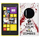 Nokia Lumia 1020 Hard Plastic (PC) Case - Keep Calm and Kill Zombies Red/White Cover