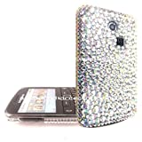 FOR SAMSUNG S3350 CHAT SILVER RHINESTONE DIAMOND HARD CASE CRYSTAL DIAMANTE BACK COVER
