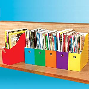 Six Colorful Magazine Files