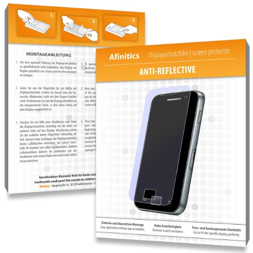 2 x Afinitics Anti-Reflective Displayschutzfolie für Samsung i8910 Omnia HD 8GB / i-8910 - Displayschutz antireflektierend und hartbeschichtet! PREMIUM QUALITÄT - Made in Germany