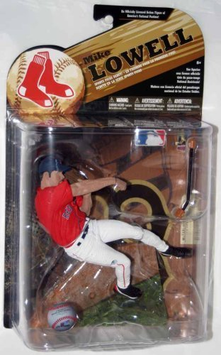 Mcfarlane MLB Series 24 Mike Lowell Red Jersey Variant Action Figure by McFarlane Toys