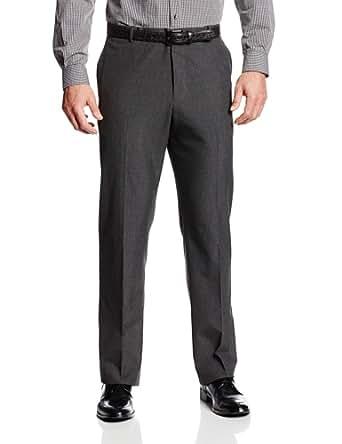 Perry Ellis Men's Big-Tall Pinstripe Flat Front Suit Pant, Charcoal, 38x36
