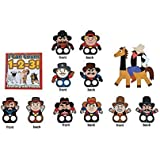 Learning Numbers With 10 Cowboy Finger Puppets, Number Booklet And Number 10 Cowboy Craft Kit Bundle