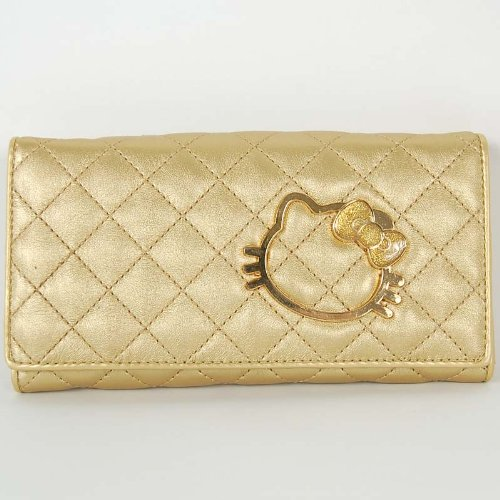 Hello Kitty Long Tri-fold Coin Wallet Purse Gold. Hello Kitty : Toy : Toy