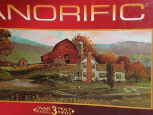 """Panorific Farm 1000 Piece Puzzle 39"""" X 15"""" Size Puzzle By Roger Bansemer"""