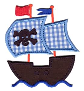 Amazon.com: PatchMommy Iron On Applique Patch, Pirate Ship - Kids Baby