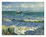 Seascape At Saintes Maries By Van Gogh 12x16 Canvas Art Print