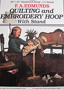 "Edmunds 18"" x 27"" Hardwood QUILTING & EMBROIDERY HOOP w 31"" Tall STAND"