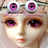 BJD doll eyes 20mm shining rose-red acrylic half ball MSD eyes Dollfie 1 pair