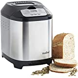 VonShef Digital Bread Maker with 12 Program Modes and 13 hour Delay Function Stainless Steel
