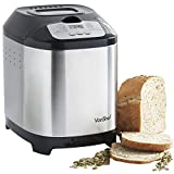 VonShef Digital Bread Maker with 12 Program Modes and 13 hour Delay Function Stainless Steel - Free 2 Year Warranty