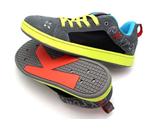 kKrows Liquid Krow Water Sport Shoes, Grey and Green, Size 11-12 (Wakeskate Shoes compare prices)