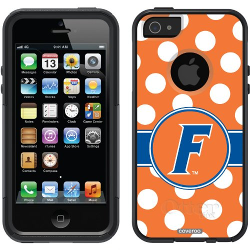 Special Sale University of Florida - Polka Dots design on a Black OtterBox® Commuter Series® Case for iPhone 5s / 5