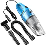 Car Vacuum Cleaner , Reteck DC 12v Portable Handheld Car Vacuum Wet Dry Lightweight Auto Vacuum Cleaner Tools with Cigarette Lightener Plug, 14FT(4M) Power Cord - 106 Blue
