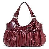 51i lzlfkIL. SL160  ToForever Womens Alyssa Handbag Burgundy