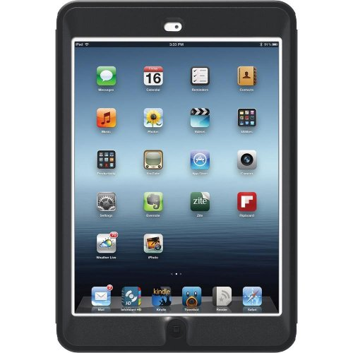 OtterBox Defender Series Hybrid Case for iPad Mini &#8211; Black (77-23834)