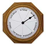 Classic Oak Dayclock Day Clock Retirement Gift