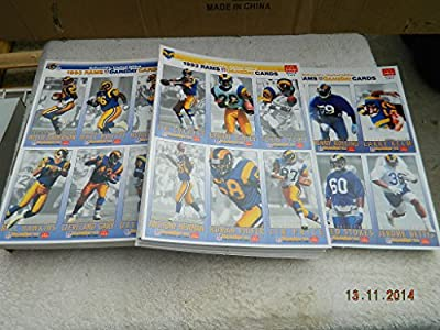 38 Sets 1993 Mcdonalds Gameday Los Angeles Rams Team Set 18 Football Cards Per