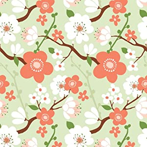 The Gift Wrap Company Cherry Blossom by Kate Spain Deluxe Gift Wrapping Paper, 30-Inches Wide x 5 Feet Long, 12-Count Packages