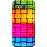 Tecozo Designer Printed Back Cover For Samsung Galaxy J2, Samsung Galaxy J2 Back Cover, Hard Case For Samsung Galaxy J2, Case Cover For Samsung Galaxy J2, (Colorful Knitted Wires Design,Colourful)