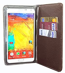 nKarta ™ Color Brown Flip Flap Wallet Pouch in Soft Inner Fiber Mobile Cover Case with Card holder Slots for Huawei Honor 4C