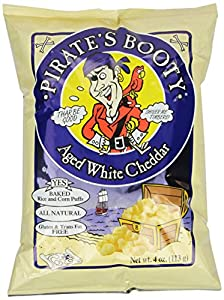 Pirate's Booty, Aged White Cheddar, 4-Ounce Bags (Pack of 12)
