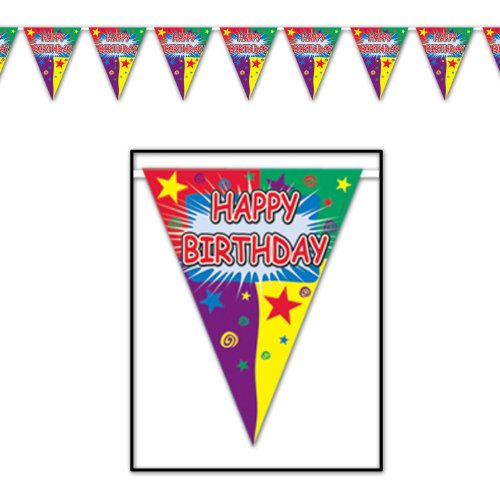 Happy Birthday Pennant Banner Party Accessory (1 count) (1/Pkg)