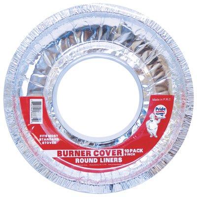 Pride Foil Burner Cover Liner 10 Pack Round 9 Inches Diameter