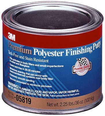 3M(TM) Premium Polyester Finishing Putty, 05819, 1 Quart (US), 12 per case